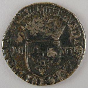 France, Henri III, 1/4 Ecu 1588 L, TB, Dup:1133