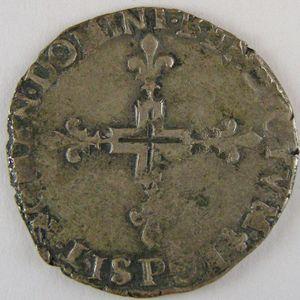 France, Henri III, Double Sol Parisis 1578 P, TTB, Dup:1136