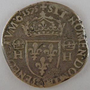 France, Henri III, Teston 1575, TB, Dup:1126a
