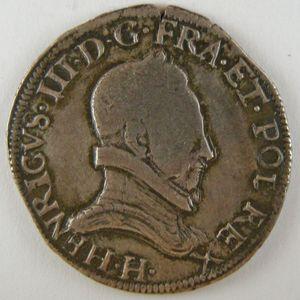 France, Henri III, Teston 1577 H, TB+, Dup:1126a