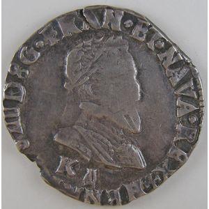 France, Henri IV, 1/2 Franc 1604 K, TB+/TTB, Duplessy: 1213a
