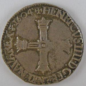 France, Henri IV, 1/4 Ecu 1604 C , Dup: 1230, TB+