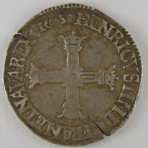 France, Henri IV, 1/4 Ecu 1605 C, TTB, Dup:1230