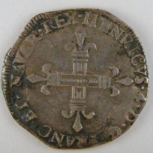 France, Henri IV, 1/4 Ecu de Navarre 1604, TTB, Dup:1238