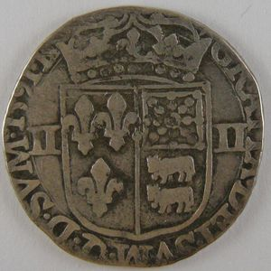 France, Henri IV, 1/4 Ecu du Béarn 1591 , Dup: 1240, TB