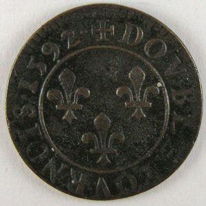 France, Henri IV, Double Tournois 1592 , Dup: 1273, TTB+