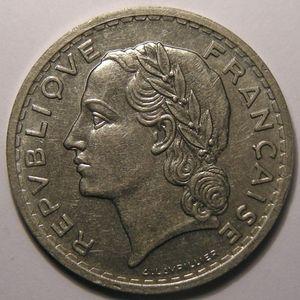France, Lavrillier nickel, 5 Francs 1938, TTB+/SUP, Gad: 760
