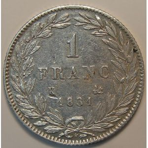 France, Louis-Philippe I, 1 Franc 1831 K Bordeaux, TTB, KM# 742.7