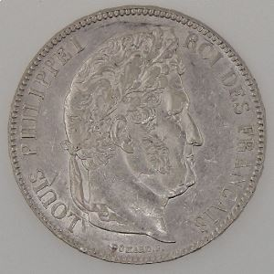 France, Louis-Philippe I, 5 Francs 1837 A, TTB+, KM# 749.1