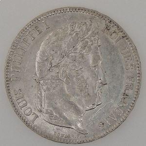 France, Louis-Philippe I, 5 Francs 1837 B, TTB+, KM# 749.2