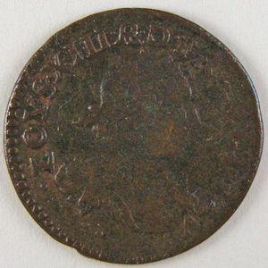 France, Louis XIII, Double Tournois 1637 , Gad: 11, TB