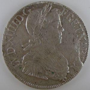 France, Louis XIV, Ecu à la mèche longue 1650 K, TB+/TTB, Gad: 202