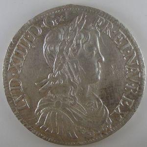 France, Louis XIV, Ecu à la mèche longue 1653 A, TTB+/SUP, Gad: 202