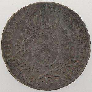 France, Louis XV, Ecu aux branches d'olivier 1732 E, TB/TB+, KM# 486.7