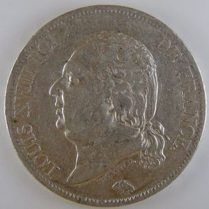 France, Louis XVIII, 5 Francs 1816 A, TTB, KM# 711.1
