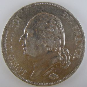 France, Louis XVIII, 5 Francs 1817 B, TTB, KM# 711.2