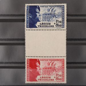 FRANCE n°565 et 566 avec intervalle N** Cote 27€