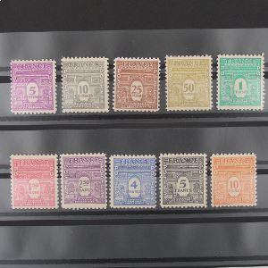 FRANCE n°620-629 N** Cote 40€