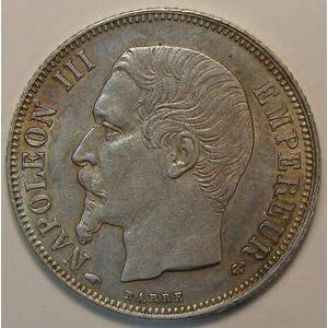 France, Napoléon III, 1 Franc 1857 A Paris, TTB+/SUP, KM# 779.1