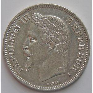 France, Napoléon III, 2 francs 1868 A, TTB+, KM # 807.1