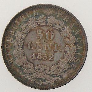 France, Napoléon III, 50 centimes 1852 A, SPL, KM# 793