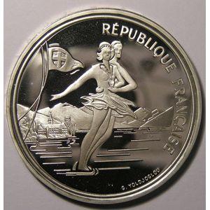 France, Patinage artistique, 100 Francs 1989 SPL, KM# 972