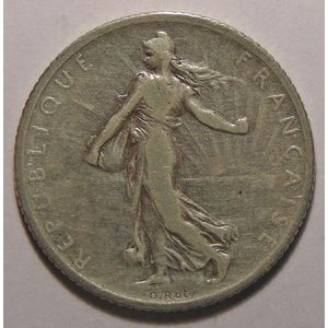 France, Semeuse, 1 Franc 1903 TB+, Gad: 467
