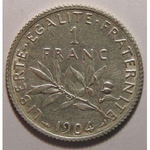 France, Semeuse, 1 Franc 1904 SUP, Gad: 467
