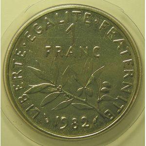 France, Semeuse 1 Franc 1982 FDC, KM# 925.1