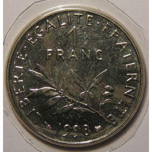 France, Semeuse, 1 Franc 1998 SPL+, Gad: 474