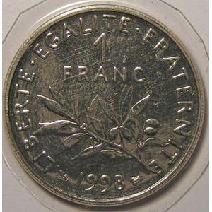 France, Semeuse, 1 Franc 1998 SPL+, KM# 925.1