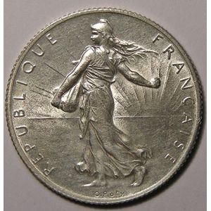 France, Semeuse, 2 Francs 1909, TTB/TTB+, Gad: 532