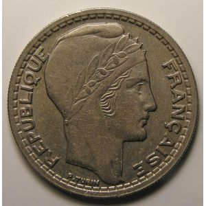 France, Turin, 10 francs, 1945 Rameaux courts, TTB, KM# 908.1