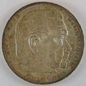 Germany, 5 Reichsmark 1939 E, TTB+, KM#94