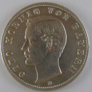 Germany, Bayern, 2 Mark 1908 D, TTB , KM#913