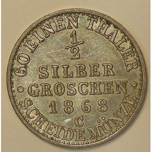 Germany , Preussen, 1 Silbergroschen 1868 C, TTB+/SUP, KM# 484