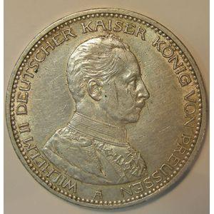 Germany, Preussen, 5 Mark 1913 A, TTB, KM# 536