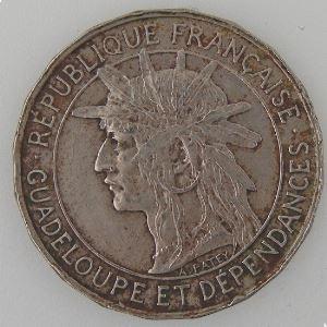 Guadeloupe, 1 Franc 1921, TB+ Lec: 58