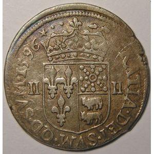 Henri IV, 1/4 Ecu du Béarn 1596 Morlaas, Duplessy: 1240