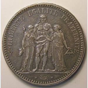 Hercule, 5 Francs 1848 A , KM# 756.1, SUP