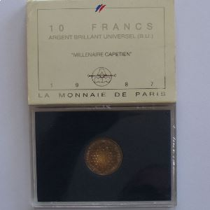 Hugues  Capet, 10 Francs 1987, BU argent, KM#961