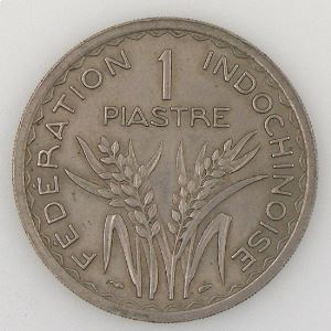 Indochine, 1 Piastre 1947, TTB/SUP, KM#32.1