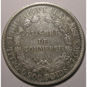 Indochine, Indochina, 1 Piastre 1901, TB+, Lecompte: 284