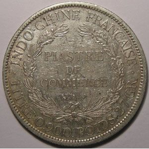 Indochine, Indochina, 1 Piastre 1907, TB+/TTB, Lecompte: 290