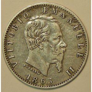 Italy, 20 Centesimi 1863, TTB, KM# 13.1