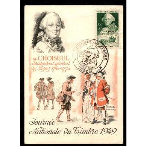 Journée du Timbre 1949 - VESOUL - CHOISEUL Surintendant Général des Postes 1760-1770