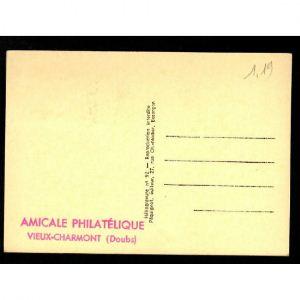 Journée du Timbre 1954 - VIEUX CHARMONT - Amicale Philatélique - Doubs - La DIAICHOTTE