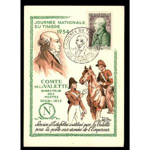 Journée du Timbre 1954 - VIEUX CHARMONT -  Comte de la Valette