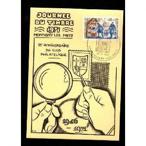 Journée du Timbre 1971 - MONTIGNY LES METZ - 25e Anniversaire du Club Philatélique - 1946-1971
