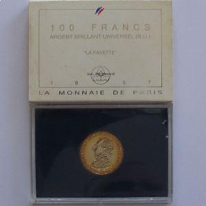 La Fayette , 100 Francs 1987, BU argent, KM#962